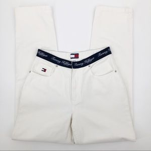 Tommy Hilfiger 10 Vintage Jeans High Waisted White